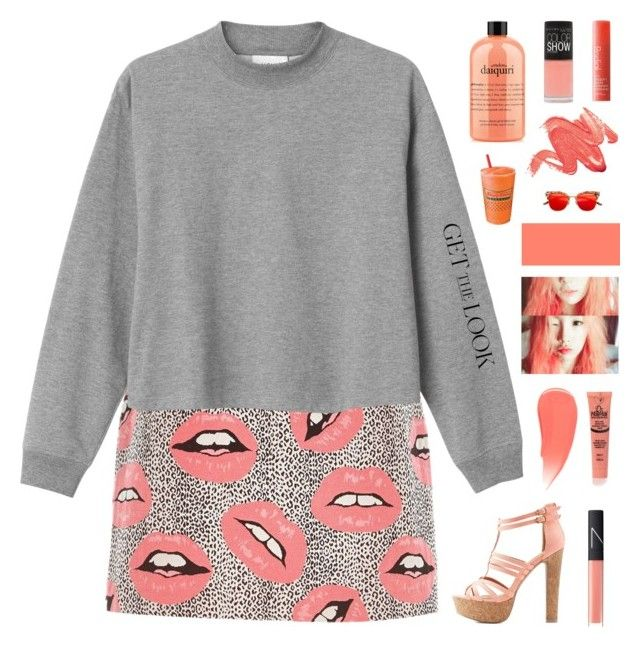 """""""Untitled #12"""" by nueova ❤ liked on Polyvore featuring River Island, Monki, Charlotte Russe, Burberry, NARS Cosmetics, philosophy, Maybelline and Rodial"""