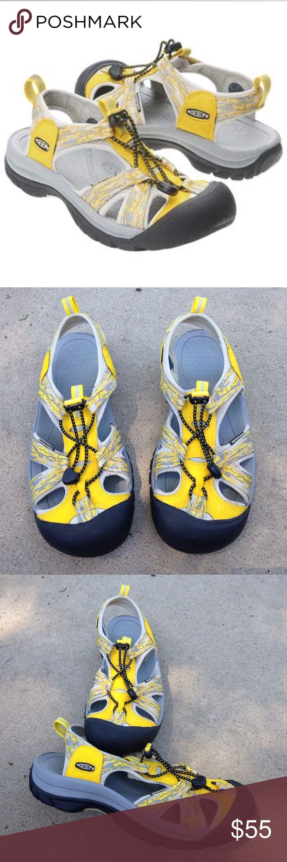 """Women's Keen Venice H2 Sandals Awesome women's Keen """"Yamhill Yellow"""" Venice H2 waterproof sandal/shoe. Worn only once or twice they are in great condition! Size 9 Keen Shoes"""