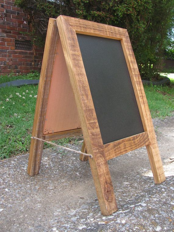 Counter Top Chalk Board Small Chalk Board Standing by Rustastic, $45.00