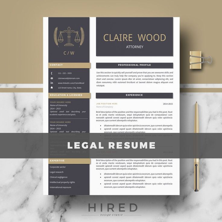 Legal Resume Template for Word: Claire2   - 100% Editable. - Instant Digital Download. - US Letter & A4 size format included. - Mac & PC Compatible using Ms Word.  Attorney Resume Template for MS Word. Lawyer Resume. If you like this template but you are not a Lawyer, you can adapt it for your profession. All our templates are easily editable 100%   ► PROMO CODES: --> Get 30% OFF on 2 templates with the code HIRED30 --> Get 35% OFF on 3 templates with the code HIRE...