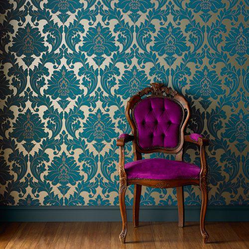 Papier peint damas / de style / lavable / non tissé MAJESTIC Graham & Brown