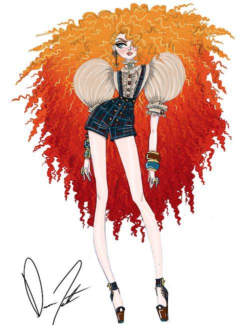 Disney fashion frenzy, Merida, Shooting arrows at the sun by Daren J
