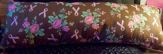 NECK PILLOW  Breast Cancer month is October by SewCraftCrazy4U