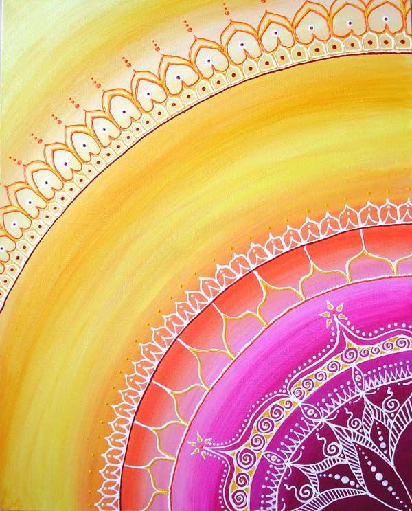 Sari Sun Painting by Cat Hawkins                                                                                                                                                                                 More