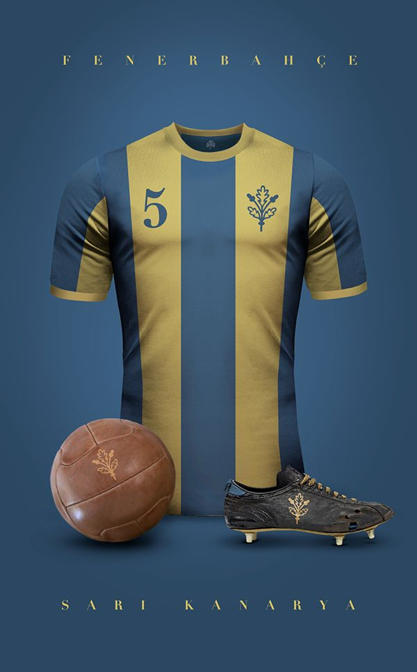 Vintage Clubs II on Behance - Emilio Sansolini - Graphic Design Poster - Fenerbahçe _ Sari Kanarya