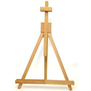 "This Mini Table Easel is great for mini canvas painting and displaying.  It can fold together for easy portability.  	  	The mini table easel is 18 1/2"" high and 16"" wide."