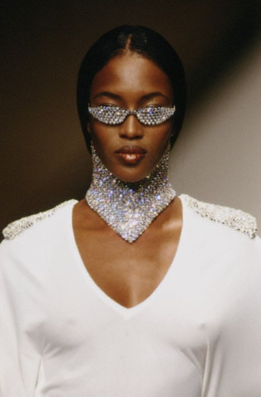 Naomi Campbell for Rifat Ozbek spring/summer 1995