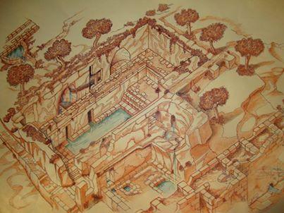 Ipogeo de beaumont Bonelli Bellacicco, ricostruzione storico (periodo romano). Borgo Antico di Taranto
