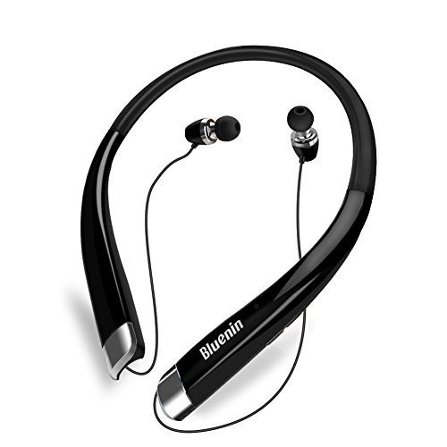 V4.1 Bluetooth Headphones, Bluenin Stereo Wireless Headset Neckband Retractable Sport Earbuds with Mic Noise-Cancelling, Sweatproof for iPhone IOS Android Devices  http://topcellulardeals.com/product/v4-1-bluetooth-headphones-bluenin-stereo-wireless-headset-neckband-retractable-sport-earbuds-with-mic-noise-cancelling-sweatproof-for-iphone-ios-android-devices/  【ADVANCED CSR BLUETOOTH V4.1】Supports Faster Pairing with One or two bluetooth devices at one time. Compatible wi