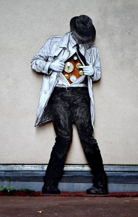 """New piece from Levalet - for Exhibition """"Paysages intérieurs (Inner landscapes)"""", opening tomorrow 26.11.2014 - Paris, France - Nov 2014"""