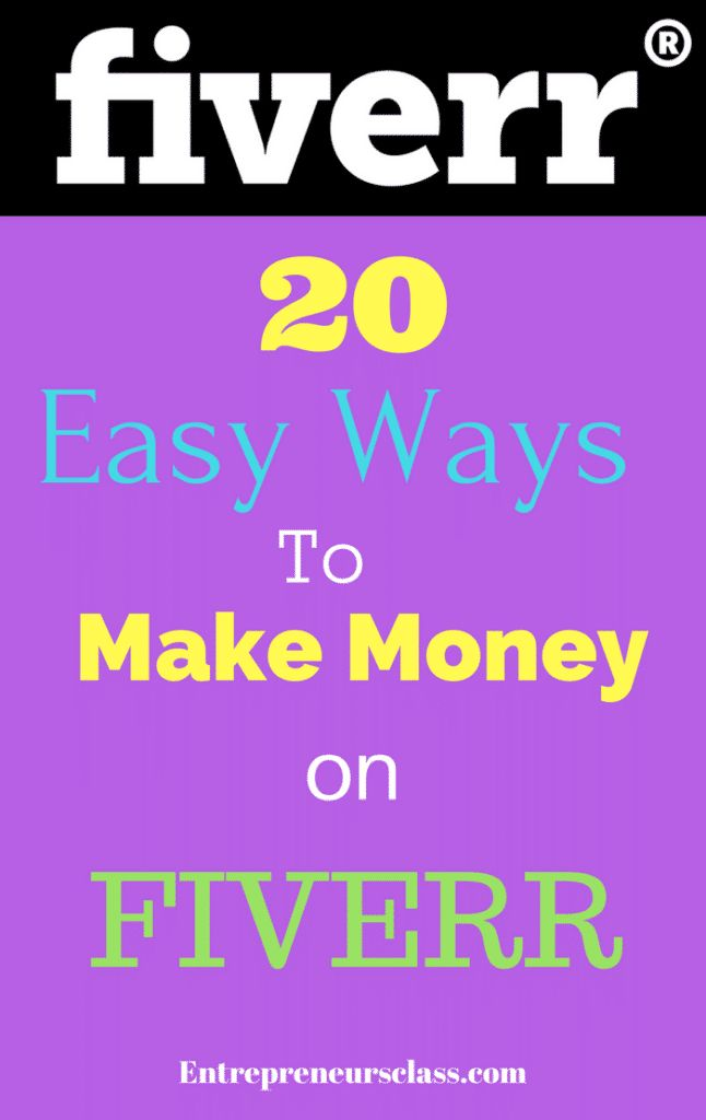 20 ways to make money on Fiverr- If you are looking for best ways to make money of Fiverr,check out these 20 easy ways to make money on Fiverr in 2017.