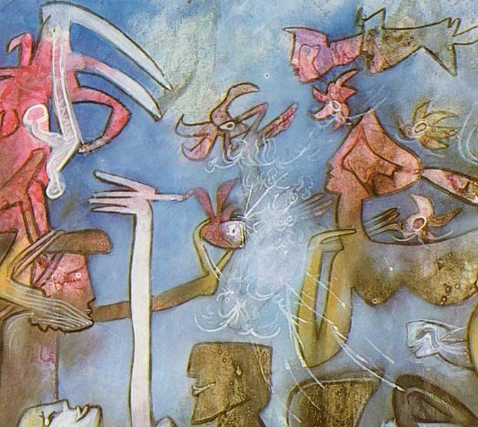 """Roberto Matta """"Un jardín de las Espérides"""", 1982"""