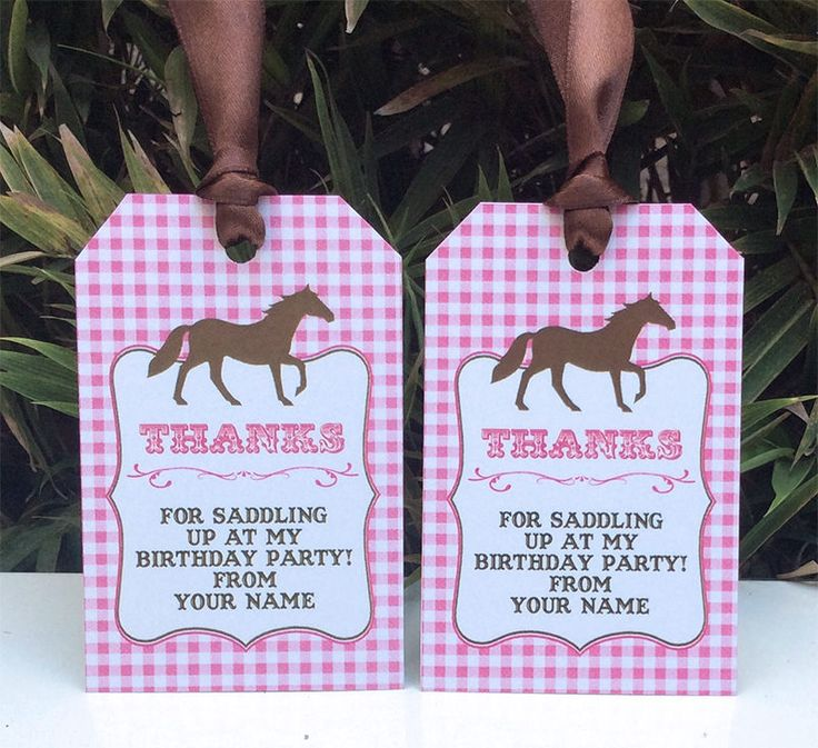 Horse Birthday Party Thank You Tags | Favor Tags | Pony Party | Printable Template