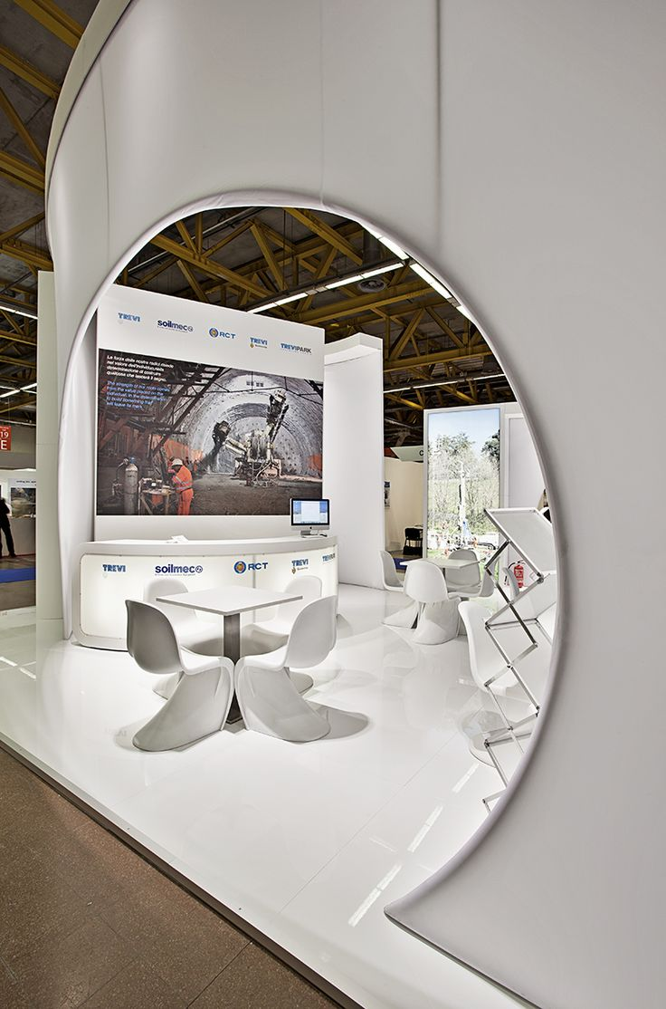 Trevi Group - Expotunnel Bologna  #exhibition #stand #fabric #temporary #architecture #design #light
