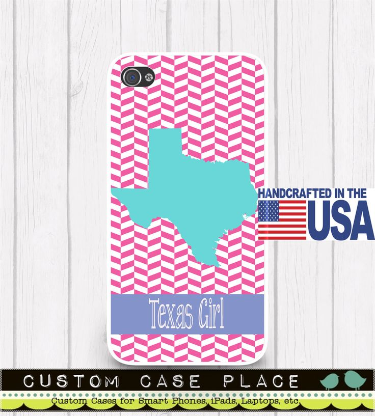 Texas Girl State Personalized Phone Case ALL STATES & Choice of Colors available iPhone 5 iPhone 5S iPhone 5C iPod iPhone 4/4S iPhone 6 by CustomCasePlace on Etsy https://www.etsy.com/listing/180802030/texas-girl-state-personalized-phone-case