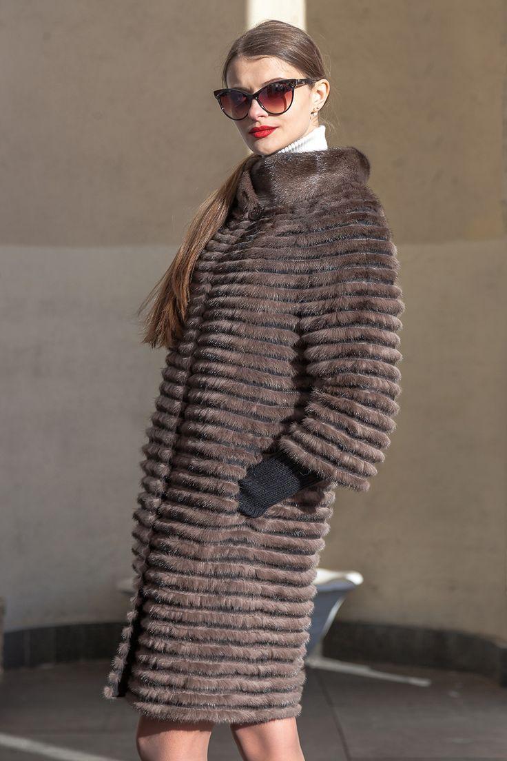 Пальто норка - 113О