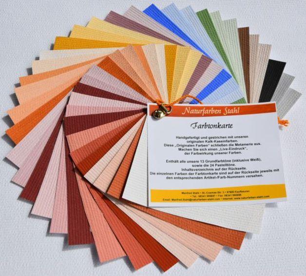 Weiteres - Farbfächer - Kalk Kaseinfarbe - Pur und Pastell - ein Designerstück von Naturfarben-Stahl bei DaWanda