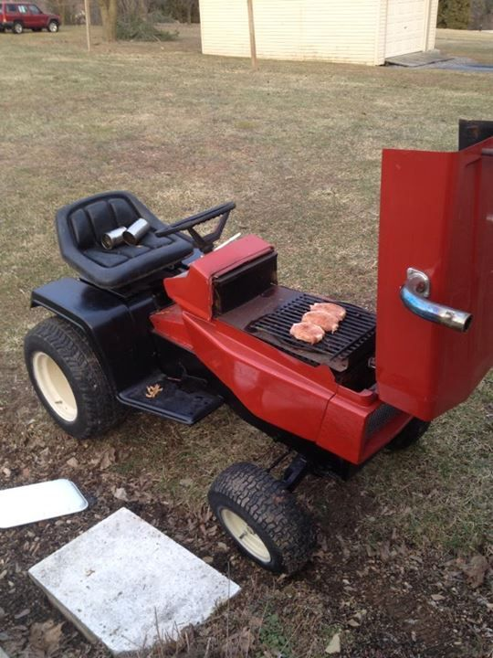 Lawn Mower Grill : Images about spring on pinterest riding mower