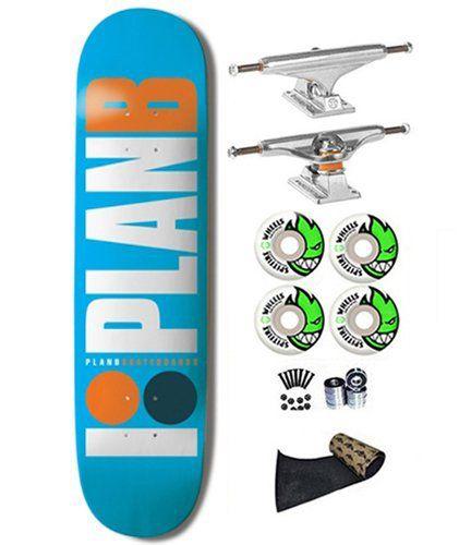 Plan B OG Team Light Blue 7.75 Skateboard Deck Complete Independent Trucks Spitfire 53mm Wheels Jessup Grip Abec 7s Plan B http://www.amazon.com/dp/B00KR0TBSU/ref=cm_sw_r_pi_dp_Omlivb0JCX7QF
