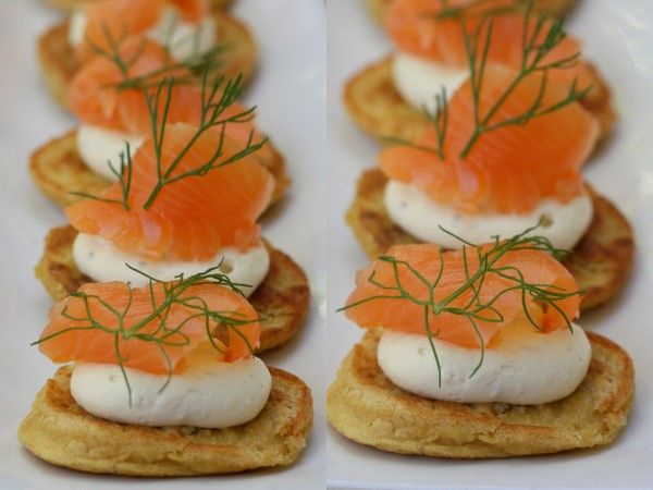 152 best images about blinis on pinterest smoked salmon for Smoked trout canape