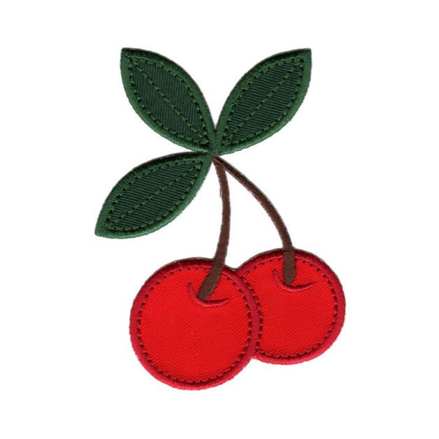 Cherries Iron-On Applique Patch