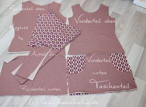 Nähanleitung für ein gemütliches Sweatkleid für Damen. (Diy Shirts Ideas)