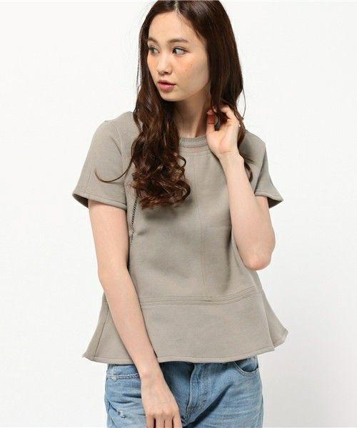 athe(アテ)のモルトンジャージカットソー(Tシャツ/カットソー)|カーキ