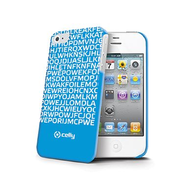 Hard #cover for iPhone 4 and 4s with blue background with white letters with hidden fluorescent message I #LOVE YOU, ideal for who want to leave an indelible mark in the heart of sweetie.