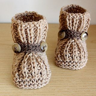 Knitting pattern: Warm Feet Baby Booties by Julia Noskova