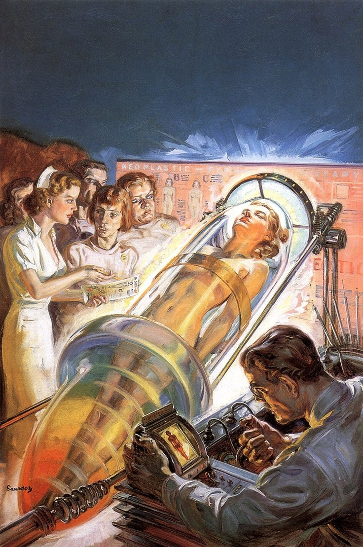 Medical analysis ^^ #Pulp #Art #Vintage