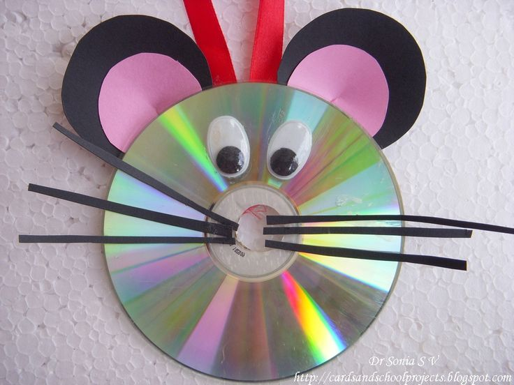 Mouse craft. Take a plain cd ( that I scratched up). Then apply your details