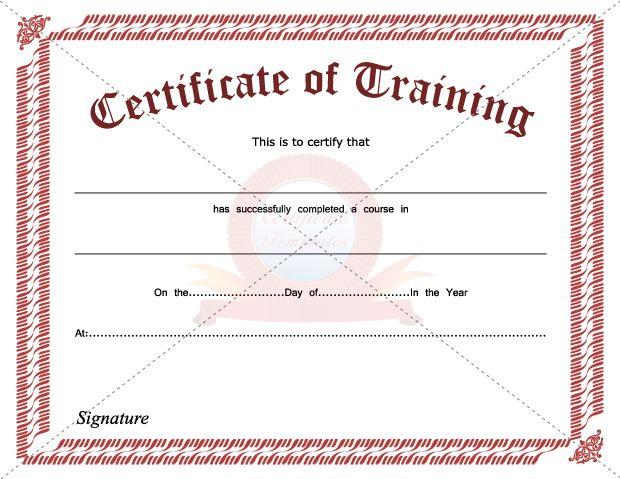 Free training certificate template jobsbillybullockus