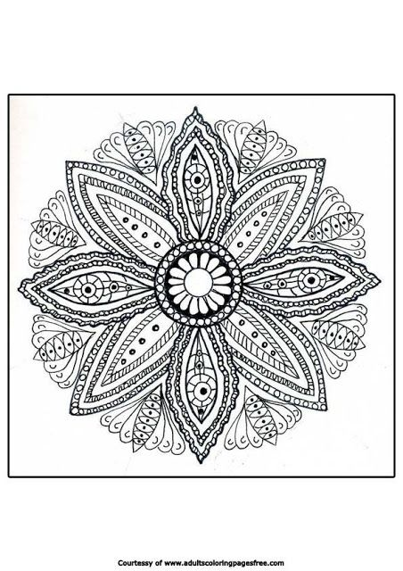 Mandala Coloring Pages Therapy