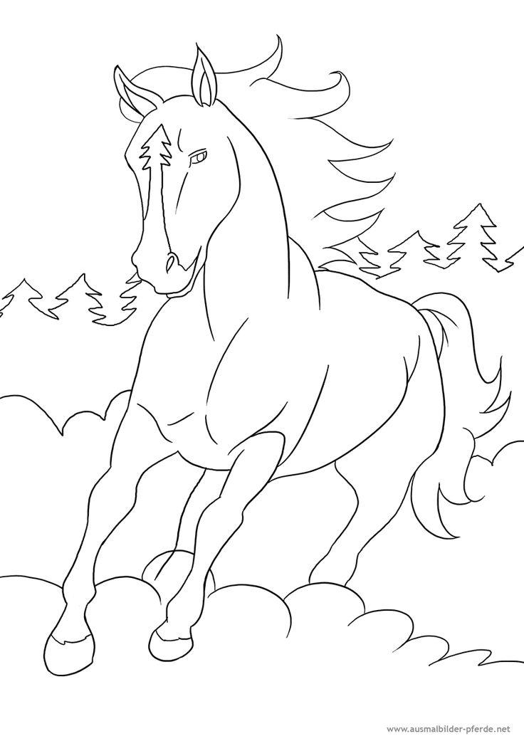 bibi und tina ausmalbilder pferde 07  mia  pinterest