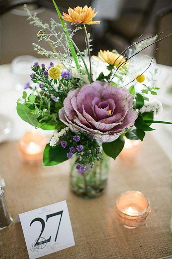 flower arrangements casual wedding