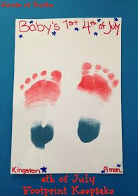 House of Burke: 4th of July Crafts for Baby