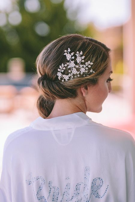 What is the best day to embellish your #hair  with beautiful #jewels , if not your big day?  Hairstyle by Antigoni Livieratou Photo by George Pahountis