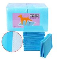 Wish | 2 Pieces Pets Diapers Dog Puppy Pet Housebreaking Pad Training Pads Thickening Toilet Pet Wet Mat (Color: Blue)