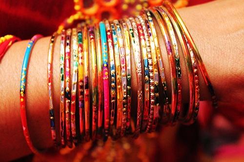 Rainbow bangles www.amouraffairs.in Amour Affairs   Indian Bride   Indian Wedding   South Asian   Bridal wear   Lehenga   Bridal Jewellery   Makeup   Hairstyling   Indian   South Asian Indian Bridal Hairstyles and Makeup