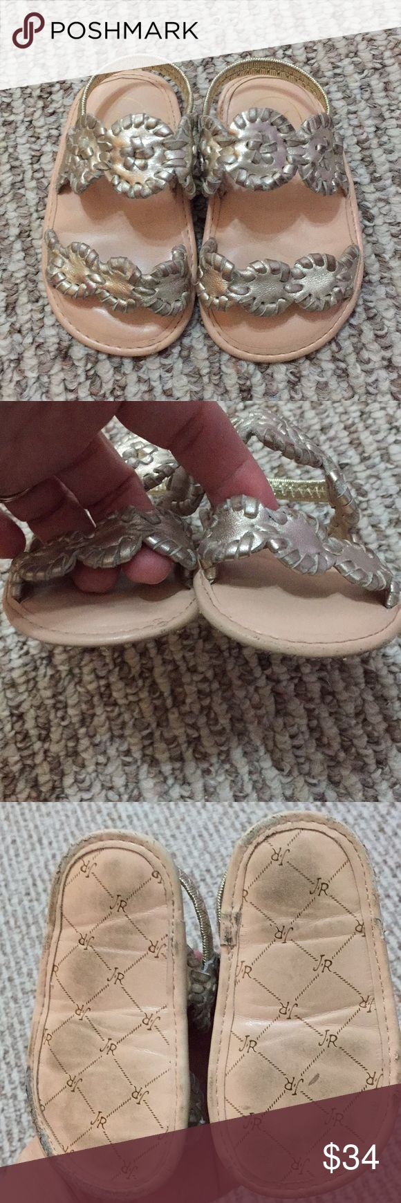 Jack Rogers Lauren Platinum Toddler Sandals Size 4 Jack Rogers Lauren Platinum Toddler Sandals Size 4. Sandals are in good condition but show signs of wear. Priced accordingly. No trades. No dealing outside of Poshmark. Thanks for shopping with us! Jack Rogers Shoes Baby & Walker