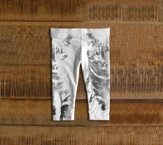 """#ArtOfWhere Baby+leggings+""""M.+le+Chat+gris""""+by+Marosée+Créations"""