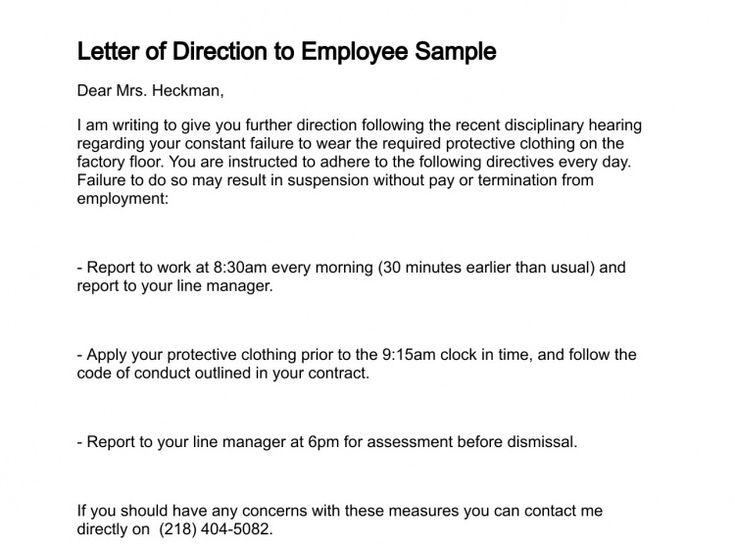 Letter of Direction Work Related Pinterest - transfer letter