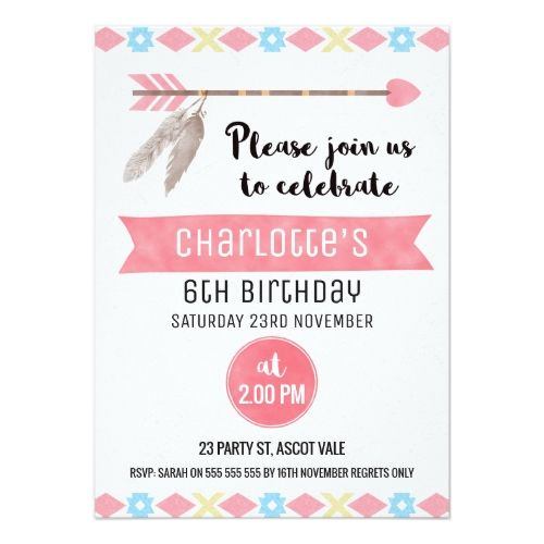 10 best Boho Birthday Party Invitations images – Invitation Birthday Card