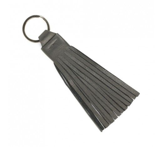 Danni Tassel Key Chain in black leather // Markberg