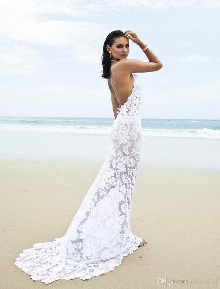 Only One Blush Wedding Dress Backless Beach Wedding Dress