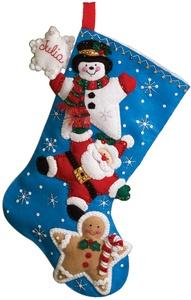 Christmas Stars Stocking Felt Applique Kit