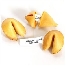 Traditional fortune cookies made with real vanilla! Your custom fortune cookies are baked fresh and individually wrapped for the ultimate in...
