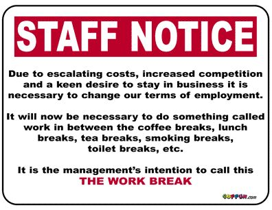 humorous signs and notices | Staff notice - Free ...