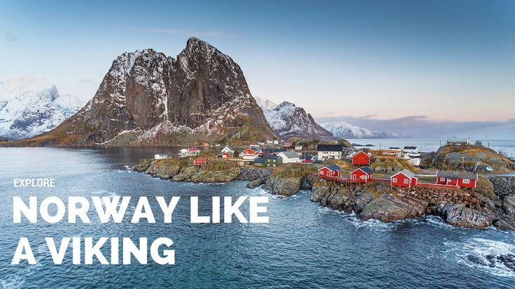 Explore Norway like it's seen on the hit TV show Vikings. The Lofoten Islands of Norway, Northern Lights, Midnight Sun, Viking heritage, outdoor adventure