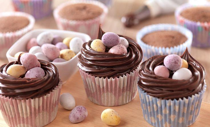 Chocolate Eggs Cupcakes